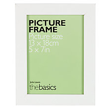 "Buy John Lewis The Basics Poplar Picture Frame, 5 x 7"" Online at johnlewis.com"