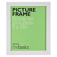"Buy John Lewis The Basics Poplar Picture Frame, 8 x 10"" Online at johnlewis.com"