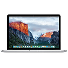 "Buy Apple MacBook Pro with Retina Display, Intel Core i7, 16GB RAM, 256GB Flash Storage, 15.4"" Online at johnlewis.com"