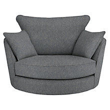 Buy John Lewis Luman Swivel Chair, Riley Nordic Blue Online at johnlewis.com