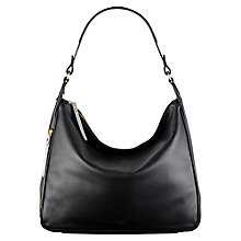 Buy Radley Frith Street Leather Hobo Bag, Black Online at johnlewis.com