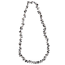 Buy One Button Long Single Row Bead Cluster Necklace, Black/Silver Online at johnlewis.com