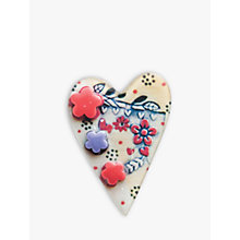 Buy One Button Almond Heart Brooch, Multicoloured Online at johnlewis.com
