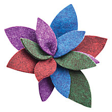 Buy One Button Boiled Wool Leaf Brooch, Mulitcoloured Online at johnlewis.com
