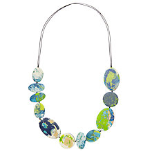 Buy One Button Irregular Giant Disc Necklace, Turquoise Online at johnlewis.com