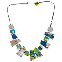 Buy One Button Short Marbled Facet Necklace Online at johnlewis.com
