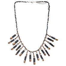 Buy One Button Short Drop Necklace, Black/Gold Online at johnlewis.com