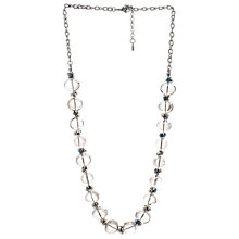 Buy One Button Nickel Plated Glass Bubble Bead Necklace, Clear Online at johnlewis.com