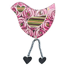 Buy One Button Bird Legs Brooch, Pink Online at johnlewis.com