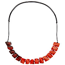 Buy One Button Chunky Facet Cord Necklace Online at johnlewis.com