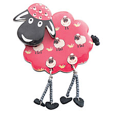 Buy One Button Sheep Legs Brooch, Red Online at johnlewis.com