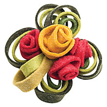Buy One Button Boiled Wool Rosette Cluster Brooch, Multicoloured Online at johnlewis.com