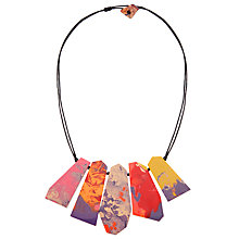 Buy One Button Five Flat Facets Necklace, Multi Online at johnlewis.com