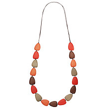 Buy One Button Single Row Teardrop Pebble Necklace, Warm Multi Online at johnlewis.com