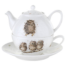 Buy Royal Worcester Wrendale 'Owl' Tea-for-One with Saucer Online at johnlewis.com