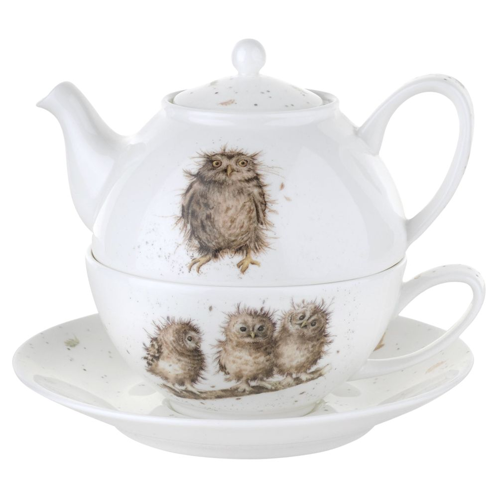 Royal Worcester Royal Worcester Wrendale 'Owl' Tea-for-One with Saucer