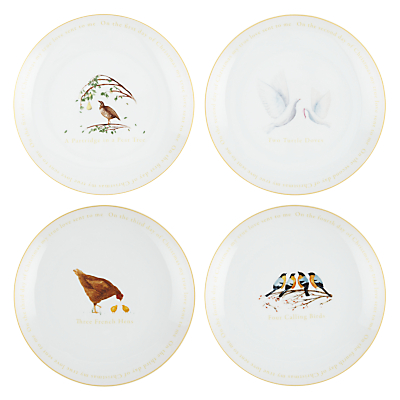 John Lewis 12 Days of Christmas Plates, Set of 12