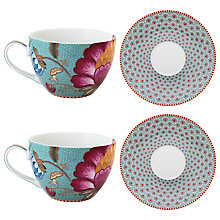 Buy PiP Studio Fantasy Set of 2 Cappuccino Cup and Saucer Online at johnlewis.com