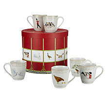 Buy John Lewis 12 Days of Christmas Mug Set Online at johnlewis.com