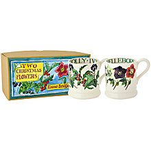 Buy Emma Bridgewater Winter Flowers 1/2pt Mug, Set of 2 Online at johnlewis.com