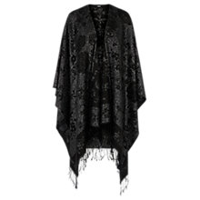 Buy Oasis Sparkle Jacquard Wrap, Black Online at johnlewis.com