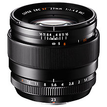 Buy Fujifilm FUJINON XF 23mm F1.4 R Wide Angle Lens Online at johnlewis.com