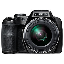 "Buy Fujifilm FinePix S9800 Bridge Camera, HD 1080p, 16.2MP, 50x Optical Zoom, Super Macro, IS, EVF, 3"" LCD Screen Online at johnlewis.com"