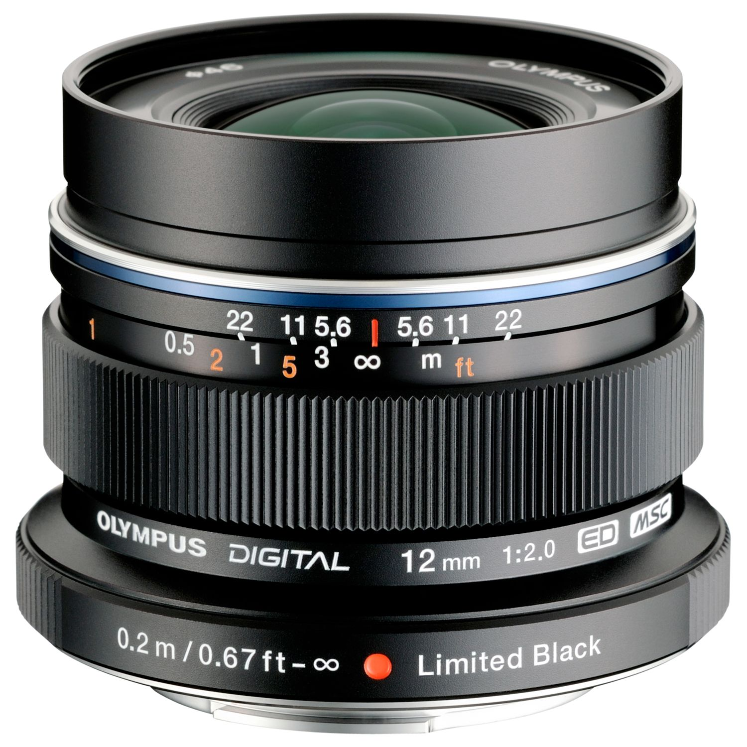 Olympus Olympus M.ZUIKO DIGITAL ED 12mm f/2.0 Compact Wide Angle Lens