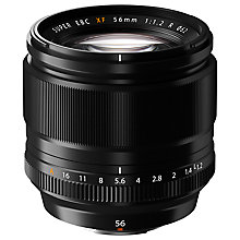 Buy Fujifilm FUJINON XF 56mm F1.2 R Prime Short Telephoto Lens Online at johnlewis.com