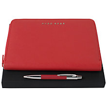 Buy Hugo Boss Pen Set, Coral Online at johnlewis.com