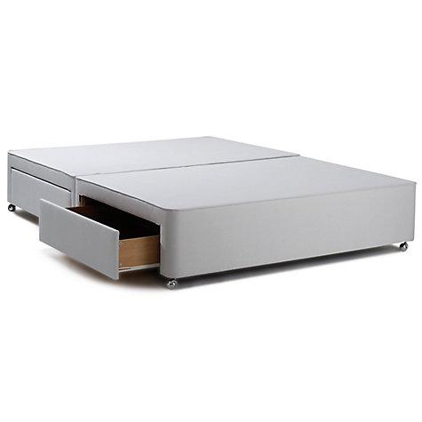 Buy John Lewis Non Sprung Ortho Divan Storage Bed Grey Double John Lewis