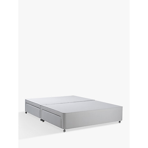 Buy John Lewis Non Sprung Ortho Divan Storage Bed Stone Grey Small Double John Lewis