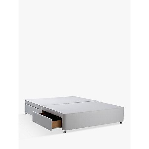 Buy John Lewis Non Sprung Ortho Divan Storage Bed Stone Grey Small Double John Lewis