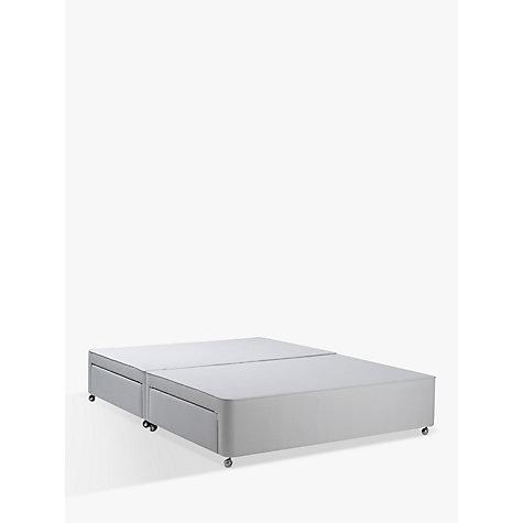 Buy john lewis non sprung ortho divan storage bed grey for Grey king size divan