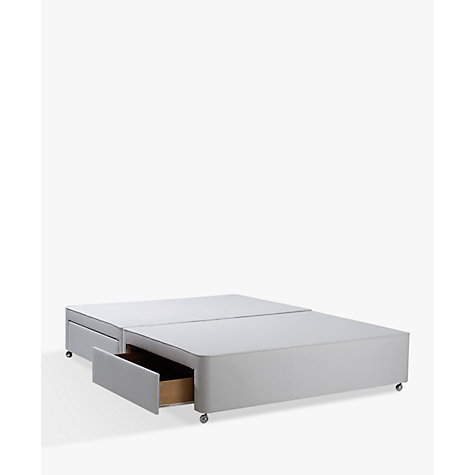Buy john lewis non sprung ortho divan storage bed grey for Grey divan king size bed