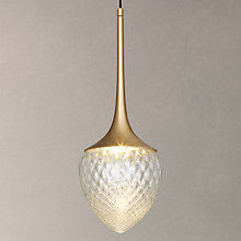 Buy CVL Louis Brass Pendant, Satin Brass Online at johnlewis.com