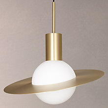 Buy CVL Saturne Brass Pendant, Satin Brass Online at johnlewis.com