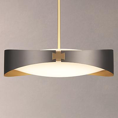 CVL Ring Satin Brass Ceiling Light, Graphite
