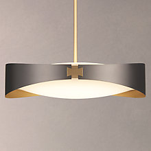 Buy CVL Ring Satin Brass Ceiling Light, Graphite Online at johnlewis.com