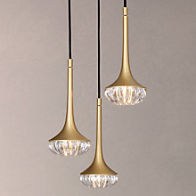 Buy CVL 3-Pendant Flea Brass Ceiling Light, Satin Brass Online at johnlewis.com