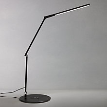 Buy Koncept Aircharge Z-Bar Mini Table Lamp, Black Online at johnlewis.com