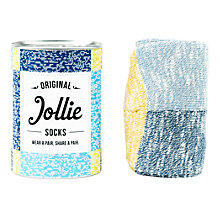 Buy Jollie 'The Speckled No. 1' Socks, One Size, Blue/Yellow Online at johnlewis.com