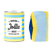 Buy Jollie 'The No.1' Socks, One Size, Blue/Yellow Online at johnlewis.com