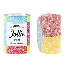 Buy Jollie The Speckled Punster Socks, One Size, Red/Yellow Online at johnlewis.com