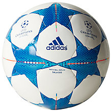 Buy Adidas Finale 15 Sala 5x5 Football, White/Blue Online at johnlewis.com