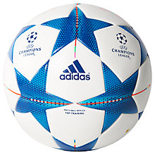 Buy Adidas Finale 15 Top Training Football, White/Blue Online at johnlewis.com