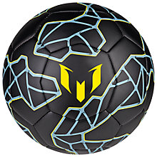 Buy Adidas Messi Football, Black/Yellow Online at johnlewis.com
