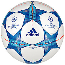 Buy Adidas Finale 15 Top Training Mini Football, White/Blue Online at johnlewis.com