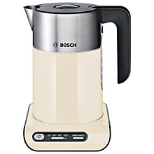 Buy Bosch TWK8637PGB Styline Kettle, Cream Online at johnlewis.com