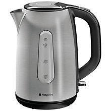 Buy Hotpoint WK30MDXB0 Kettle, Brushed Stainless Steel Online at johnlewis.com